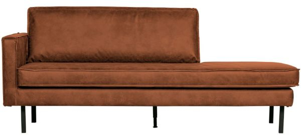 Chaiselongue Rodeo links in cognac von BePureHome