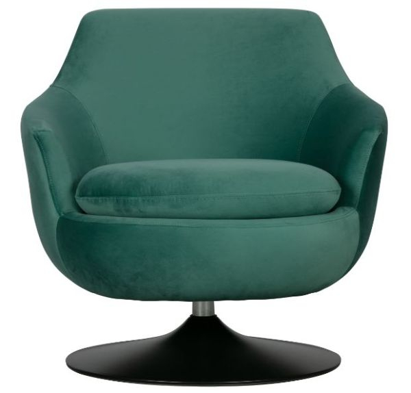 Samt-Sessel Jada in teal von WOOOD