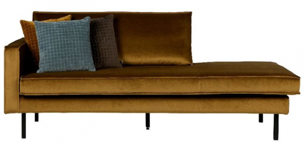 Chaiselongue Rodeo linksseitig in honiggelb von BePureHome