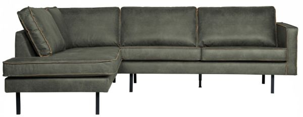 Ecksofa Rodeo mit Recamiere links in army von BePureHome