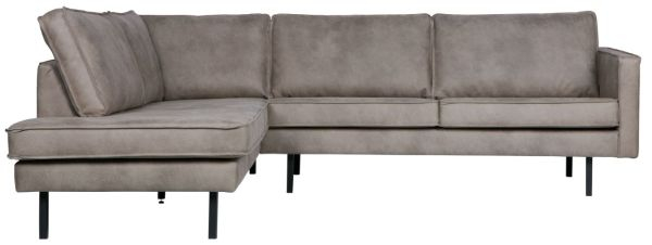 Ecksofa Rodeo mit Recamiere links in hellgrau von BePureHome