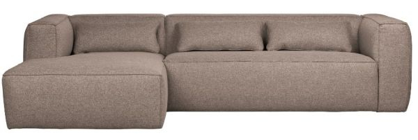 Eckcouch Bean mit Recamiere links in taupe von WOOOD