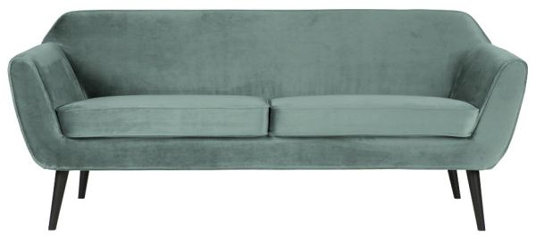 Sofa Rocco in Samt-Optik in mint von WOOOD