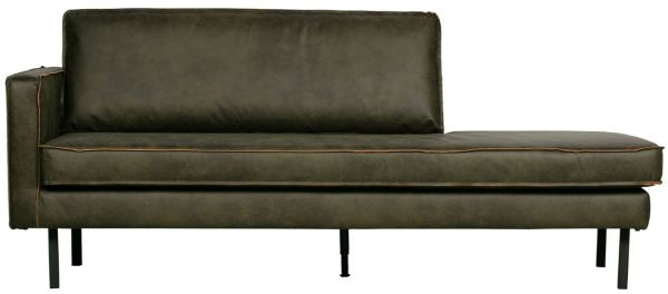 Chaiselongue Rodeo links in army von BePureHome