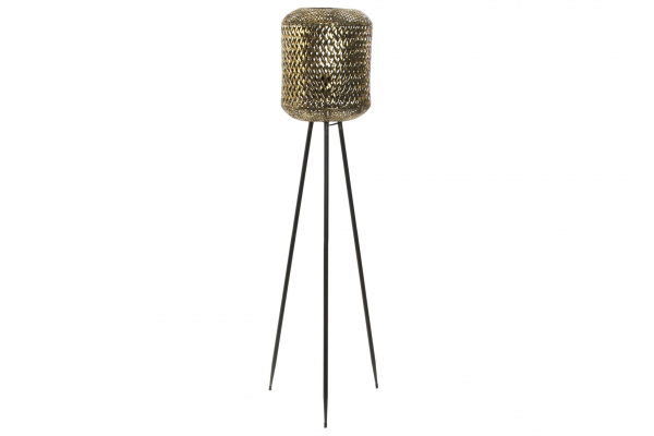 Stehlampe Barcly in gold aus Metall